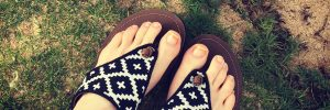 Acorn Artwalk Leather Flip Flop