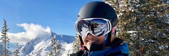 Bollé ski helmet and goggles