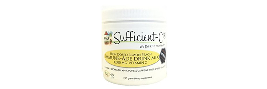 Sufficient-C High Dose Lemon Peach Immune-Ade Drink Mix